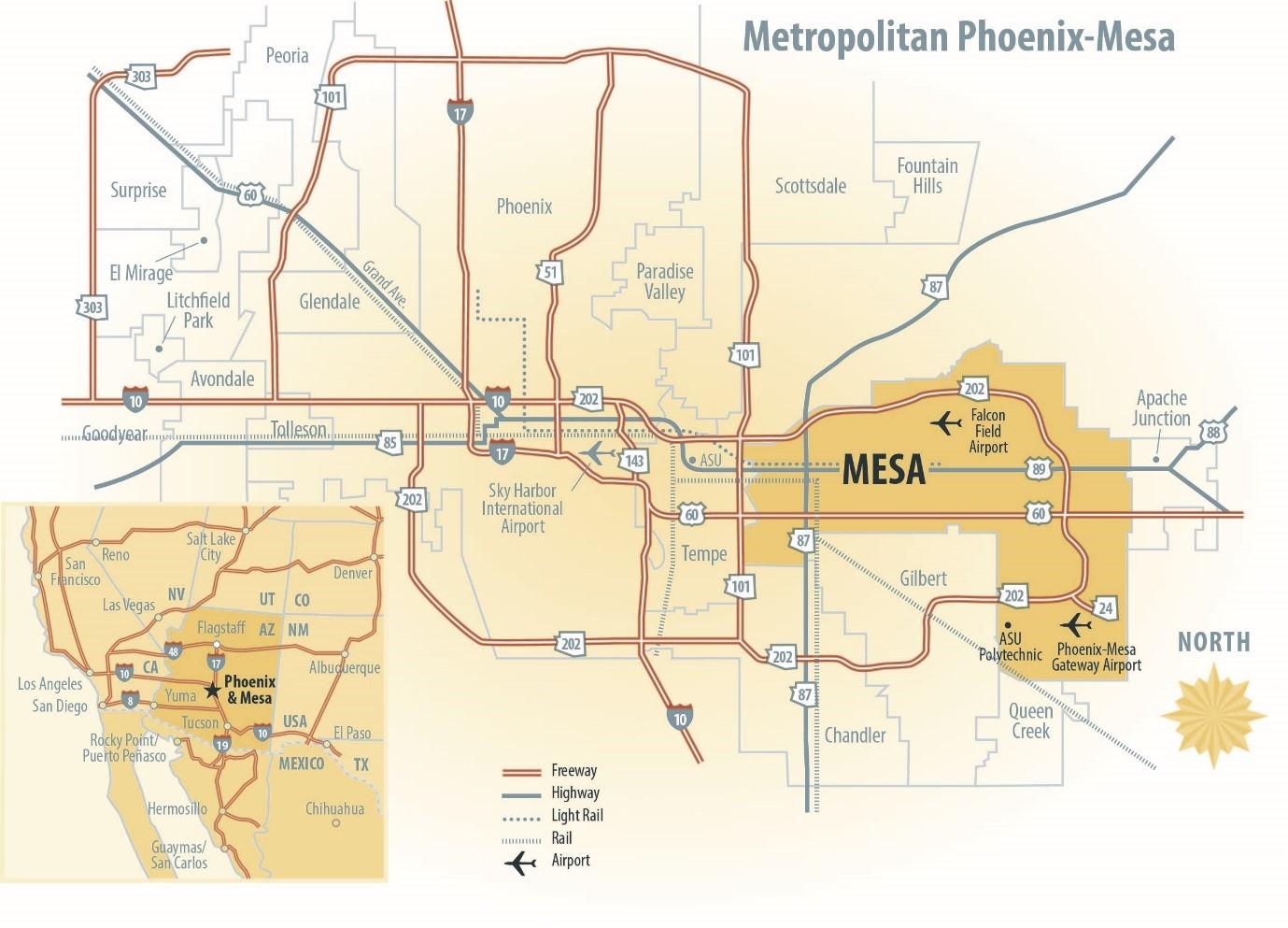 metro phx-mesa map