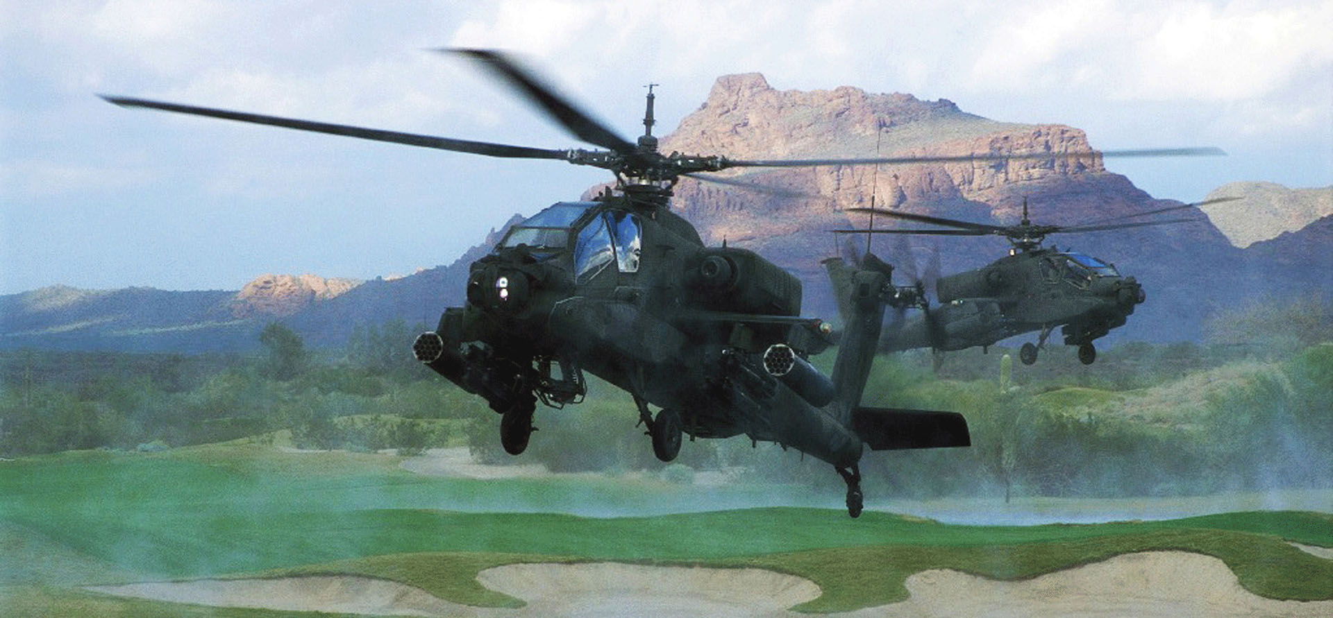 Boeing Apache helicopter