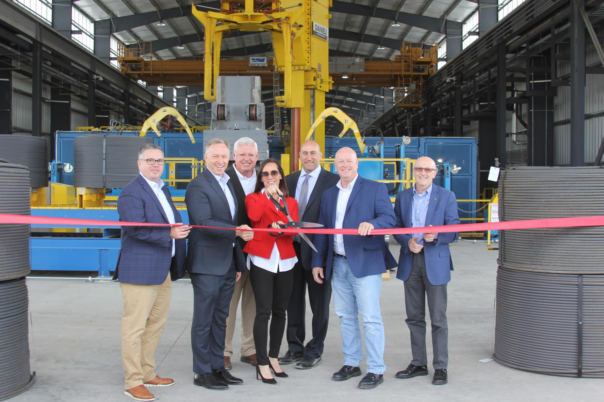 Commercial Metals Company grand opening for CMC Steel Arizona spooler expansion in Mesa